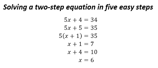 two step equation in five steps